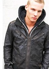 Male Model In Black Jacket