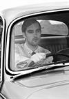 Male Model in a Car