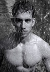 Topless Male In Water