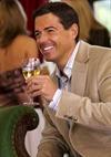 Male Enjoying A Glass Of Wine