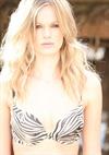 Blonde Swimwear Model