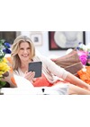 Female Model with Kindle
