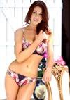 underwear model with dark hair